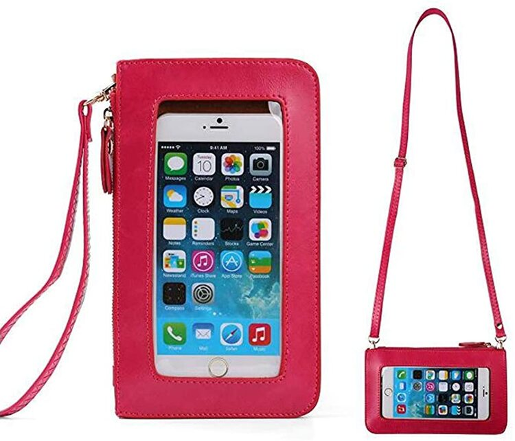 Christmas Special - Multi-Functional Pu Leather Waterproof Touch Screen Purse With Clear Window