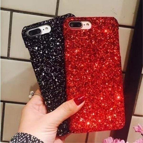 Sparkling Glitter Christmas Phone Cases Covers for IPhone X 8 8plus 7 7plus 6 6s 6Plus 5s 5 SE Coque Fundas Capinha Celular for Iphone upgrades gadgets