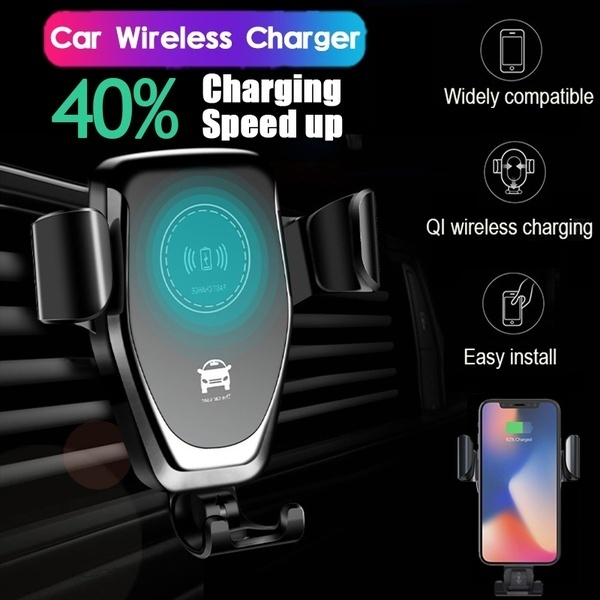 Qi Wireless Charger Car Air Outlet Holder 360 ° Rotatable Smartphone Car Power Charger Dock for Iphoen X Xs Max Xr 8 Plus Samsung Galaxy Note9 8 S10 S9 S8 S7 S6 Plus Huawei P30 P20 Pro