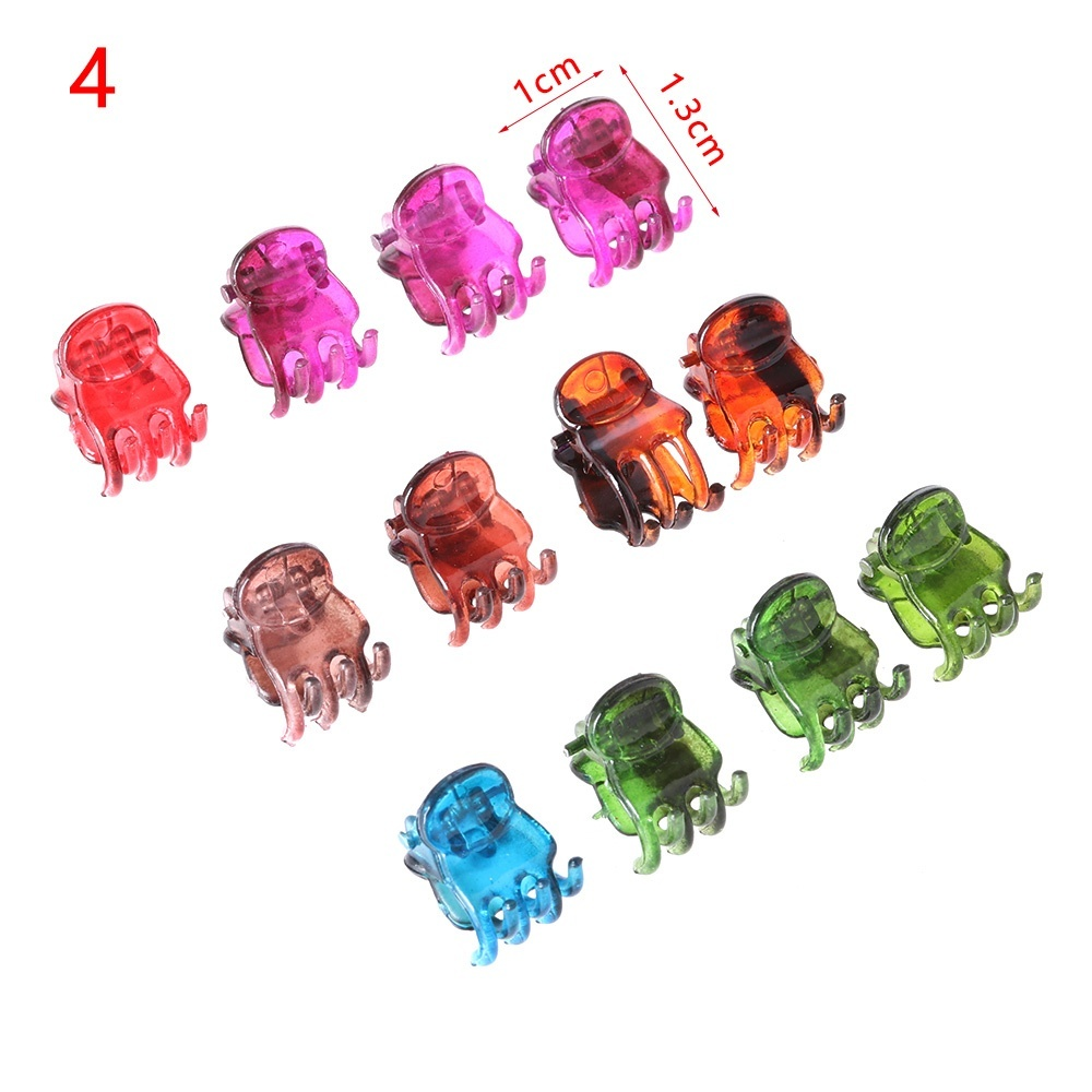 12PCS/SET Hair clips  Hot Sale Plastic Woman's Fashion Styling Tools  Hairpin Clamp Hair Clips Clamp 6 Claws  Clipper