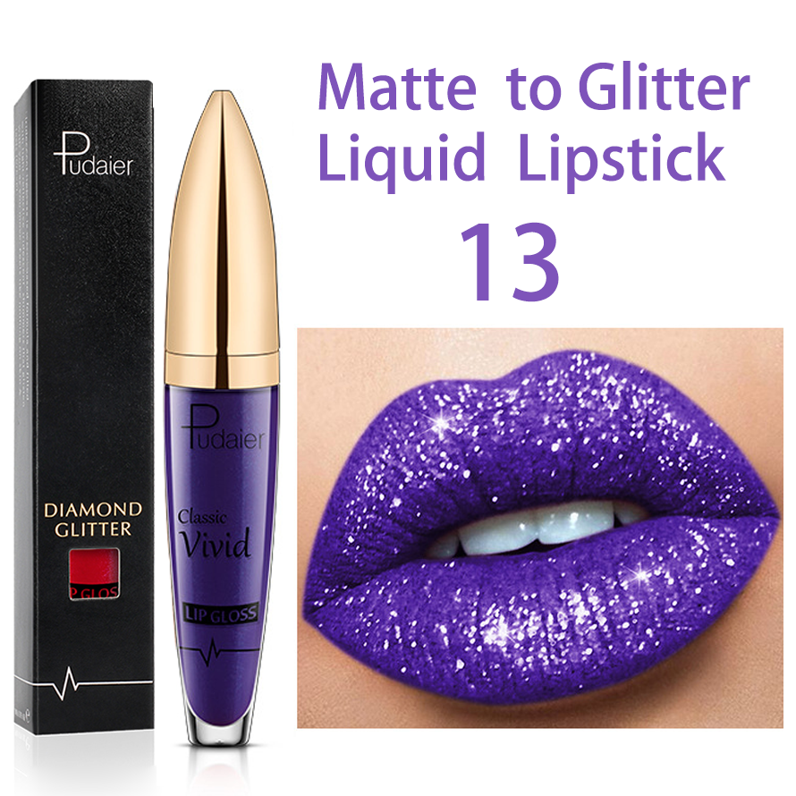 Buy 3 Or More (10%OFF+Free Shipping) - 18 Color Diamond Shiny Long Lasting Lipstick