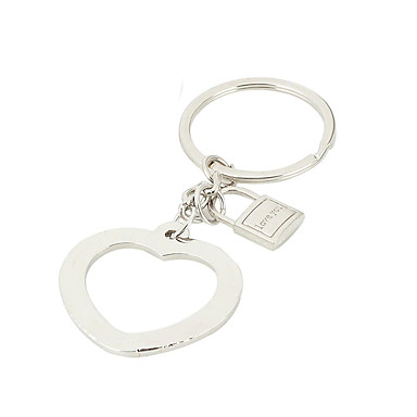 Keychain Heart Ring Jewelry Silver For Gift Valentine