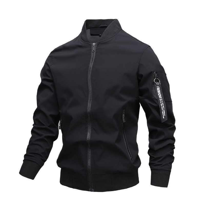 New men's solid color casual jacket
