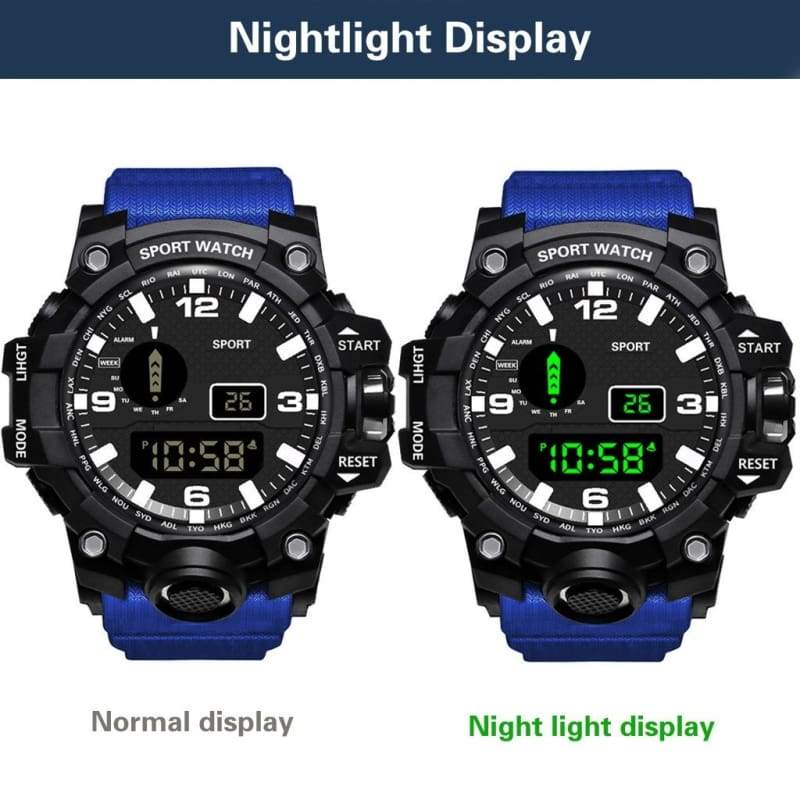 HONHX Luxury Mens Fashion  Digital LED Watch Date Sport Men Outdoor Electronic Watch