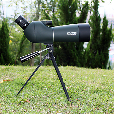 20-60 X 60 mm Telescopes Lenses Waterproof High Definition Antiskid BAK4 Hunting Camping Camping / Hiking / Caving PP+ABS / Bird watching