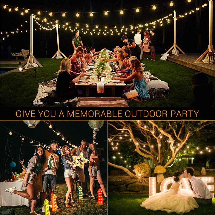 SOLAR POWERED LED OUTDOOR WATERPROOF STRING LIGHTS