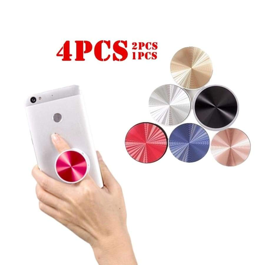 4/2/1 PCS Original Metal Surface Expanding Phone Holder for Iphone Xr 8 7 Iphone Holder Mobile Phone Finger Grip Flexible Phone Stand