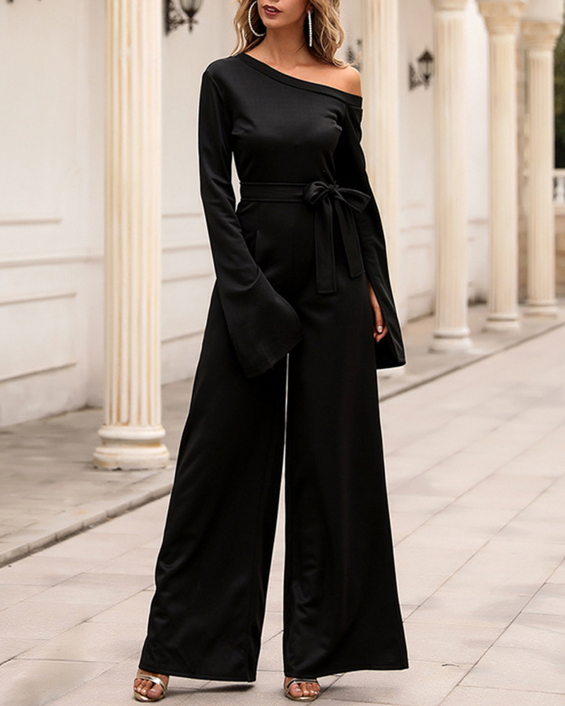 Fashion Solid Color Casual Party Jumpsuit