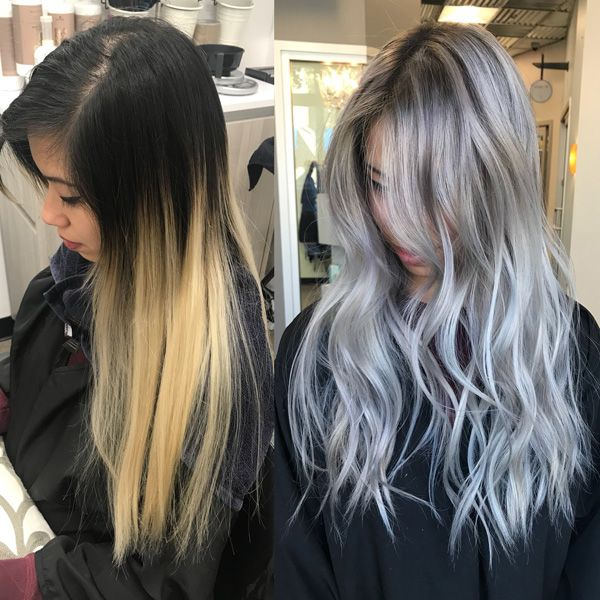 2020 New Gray Hair Wigs For African American Women Guy Fieri Wig Silver Grey Ombre Best Wigs For Black Women Curly Lace Wig 8 Inch Wig