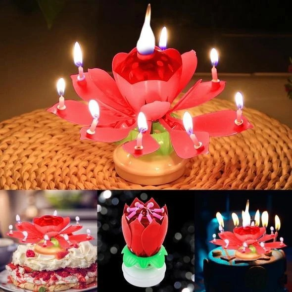 (SUMMER HOT SALE-50% OFF)Magic Flower Birthday Candle