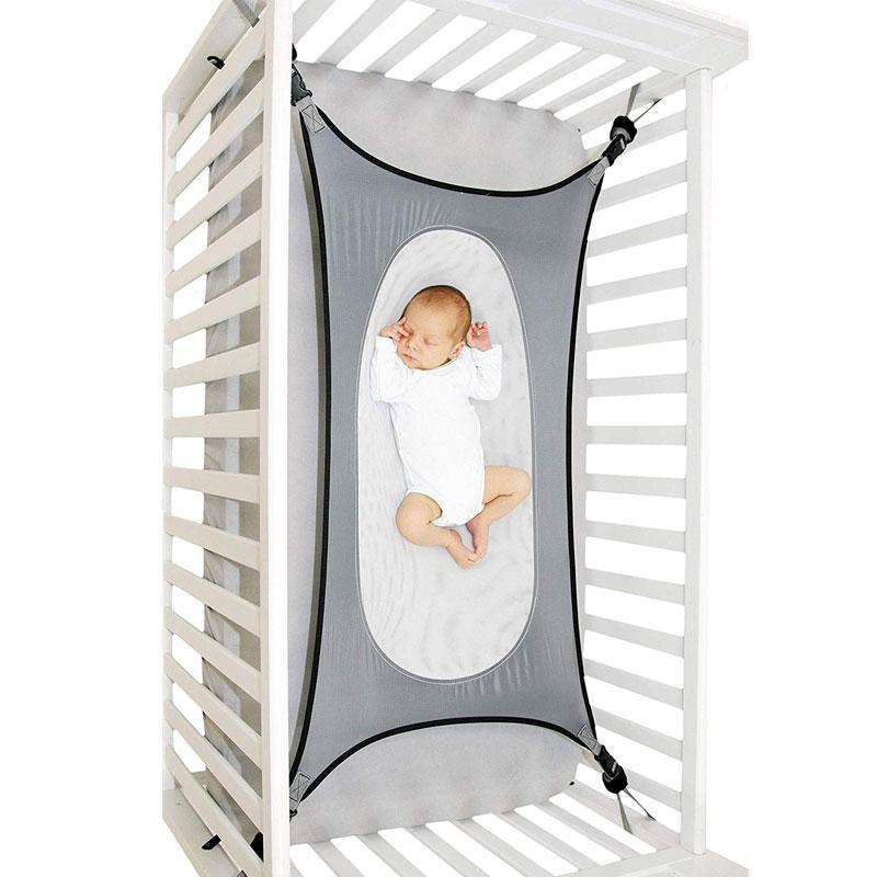 Double Layer Breathable Mesh Lullaby Baby Cradle Hammock for Crib