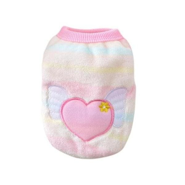 1PC Cartoon Puppy Vest Clothing Warm Dog Clothes Chihuahua French Bulldog Winter Dog Coat For Small Dogs Pet Cat Clothes