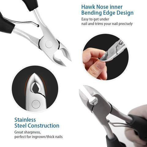 Medical-grade nail clippers for thick or ingrown nails