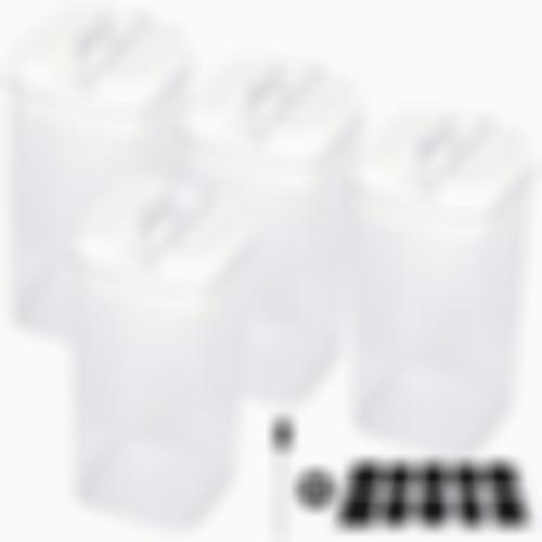 TIANGR Medium Airtight Food Container[4 Piece Set]Kitchen Clear Seal Jar- Cereal