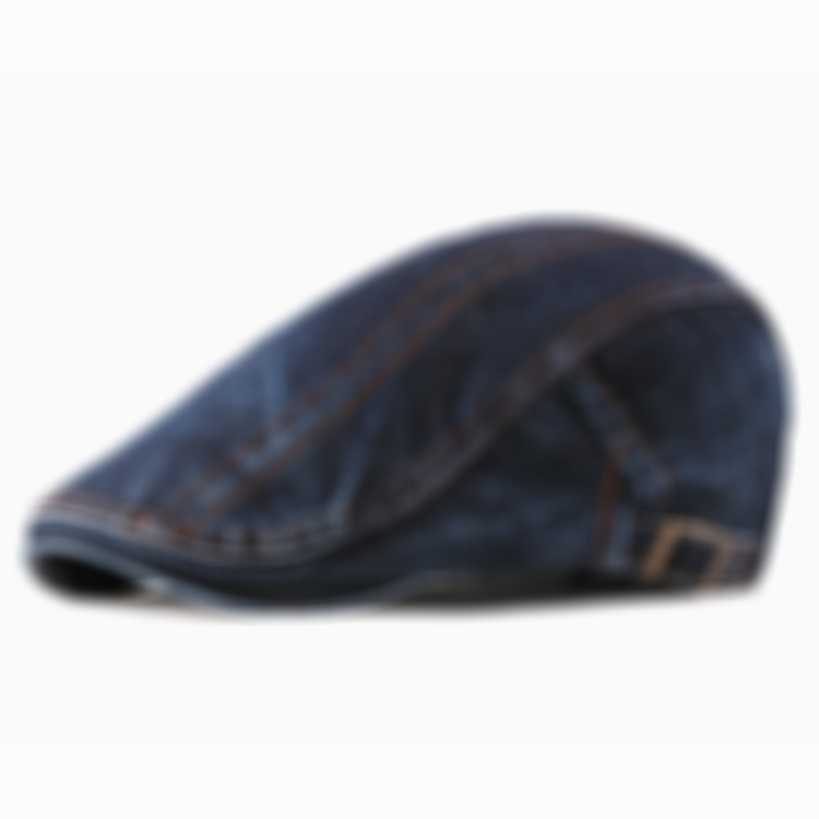 🌟50% OFF-Dark classic denim flat hat