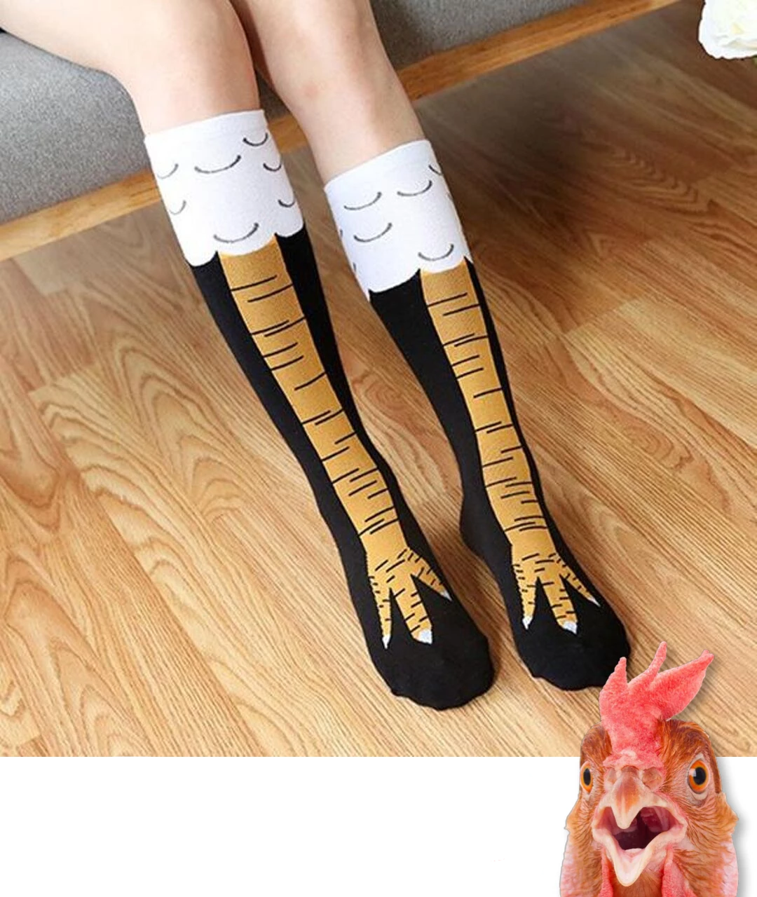 【BUY 3 GET 1 FREE & On-Time Delivery】Original Chicken Legs Socks