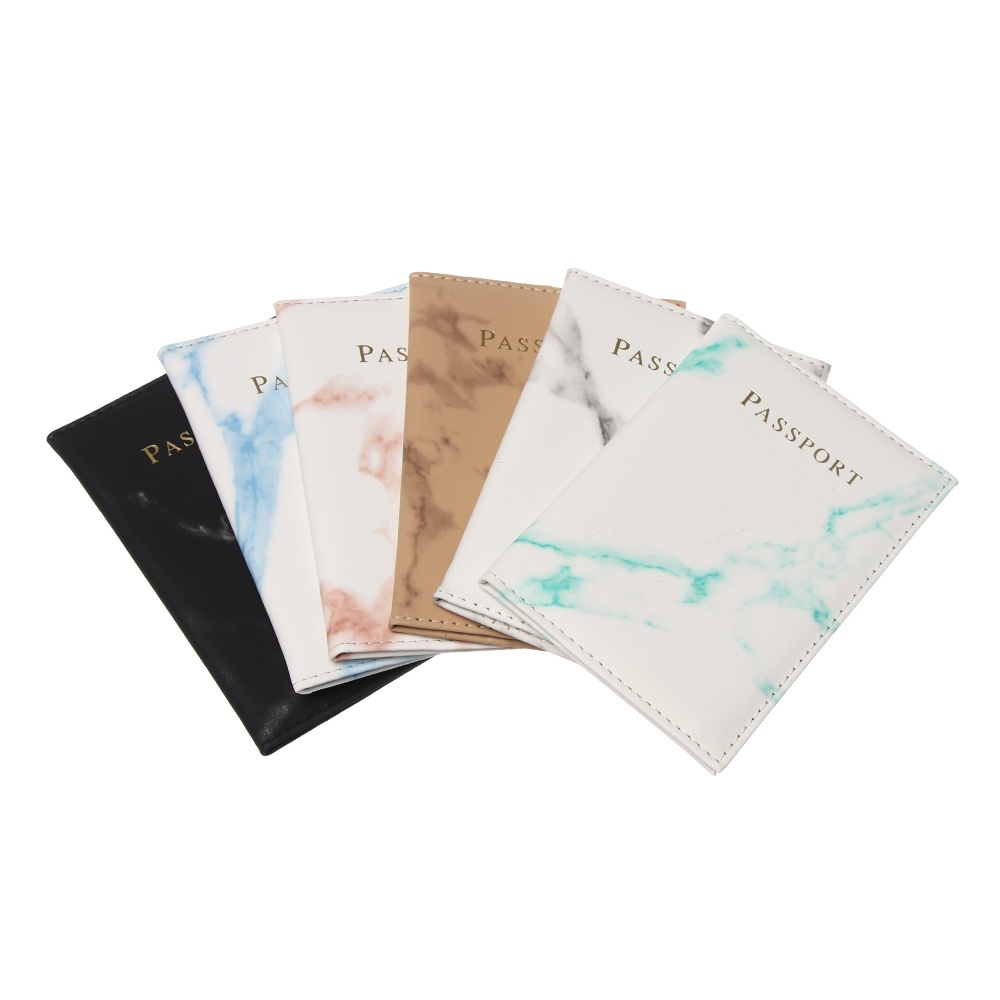 New Fashion Waterproof ID Case Marble Pattern Universal World   Passport Holder  Bag Protector Passport Cover  Travel Cover Case