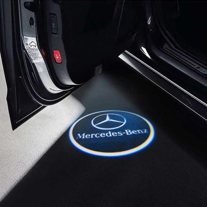 CarFitg Wireless Led Car Door Projector Puddle Logo Light - MERCEDES-BENZ
