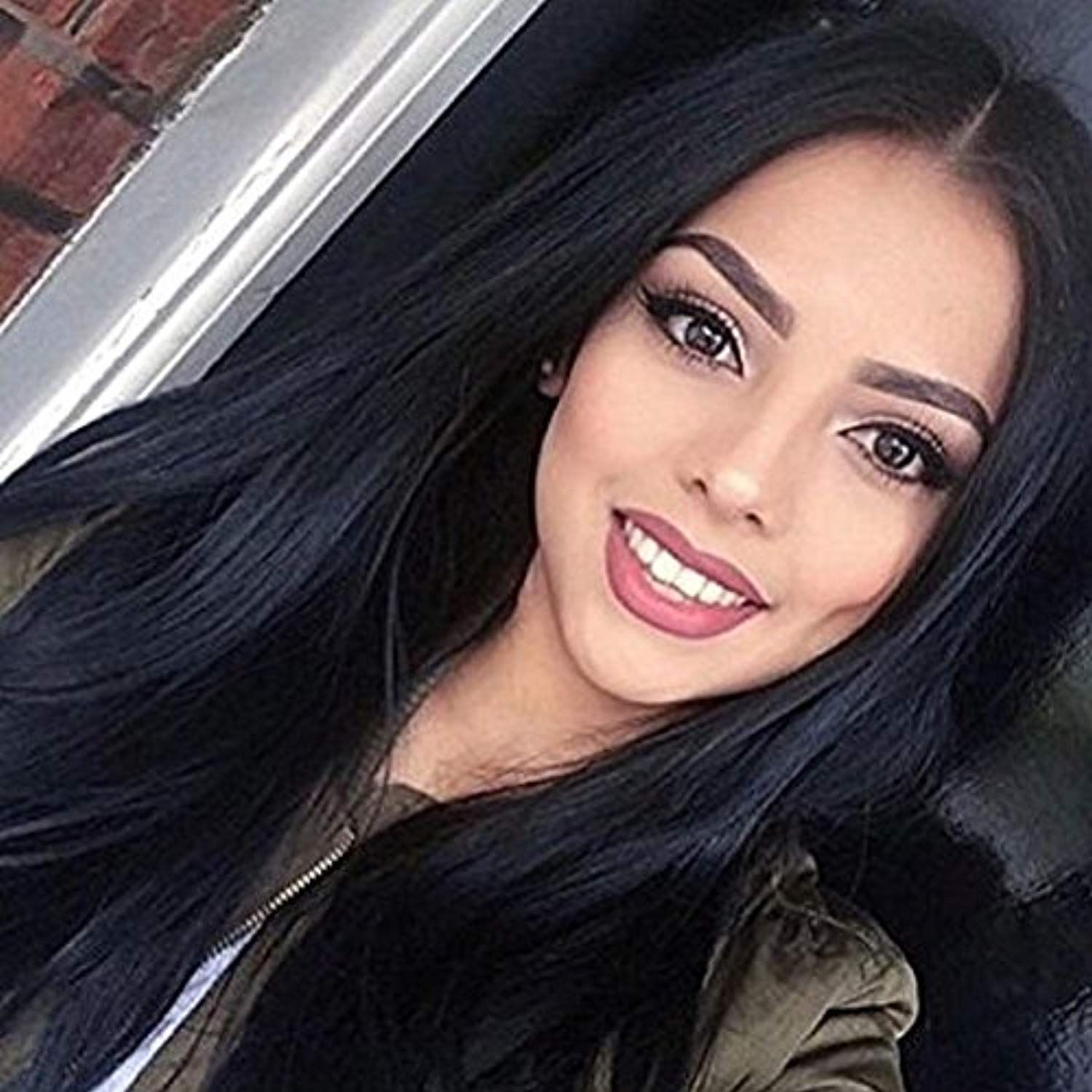 2020 New Straight Wigs Black Long Hair Straight Choppy Bob Blonde Wig With Bangs Black Girl