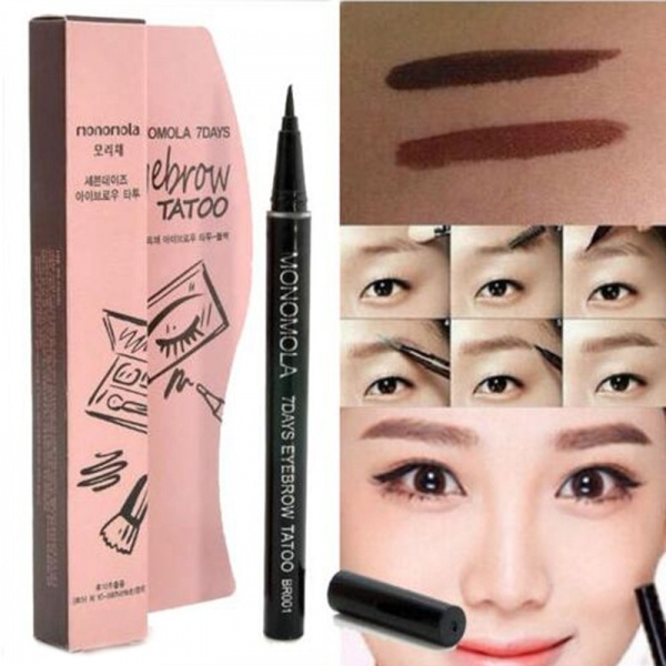1Pc 7 Days Long Lasting  Eyebrow Pen Tattoo Eye Liner Semi Permanent Make Up Pencil