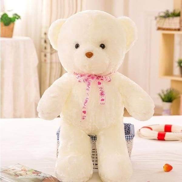 1PC Romantic Colorful flash LED light plush teddy bear doll Colorful shining led light throw pillow, Lovely cute luminous stuffed toy gifts for kids and girlfriend gift 20/35/50CM
