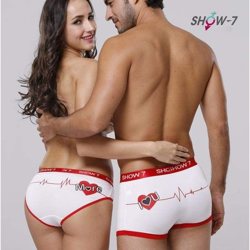 Mens Boxer Underwear Shorts Couple Panties Cotton Cartoon underwear Underpants Heart Printed  DYY3584/h33