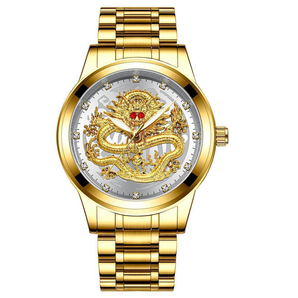 Father's Day Special Deal🔥 Embossed Golden Dragon Watch