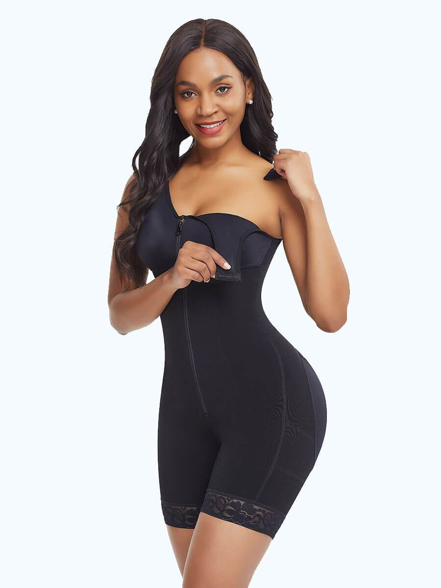 okiwilldo Full Bodysuit Zippered Slimming Shaper