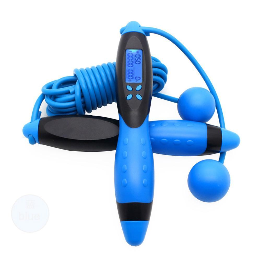 2020 Smart Electronic Counting Adult Work Out Fitness Skipping Rope Calorie Home Fitness Equipment
