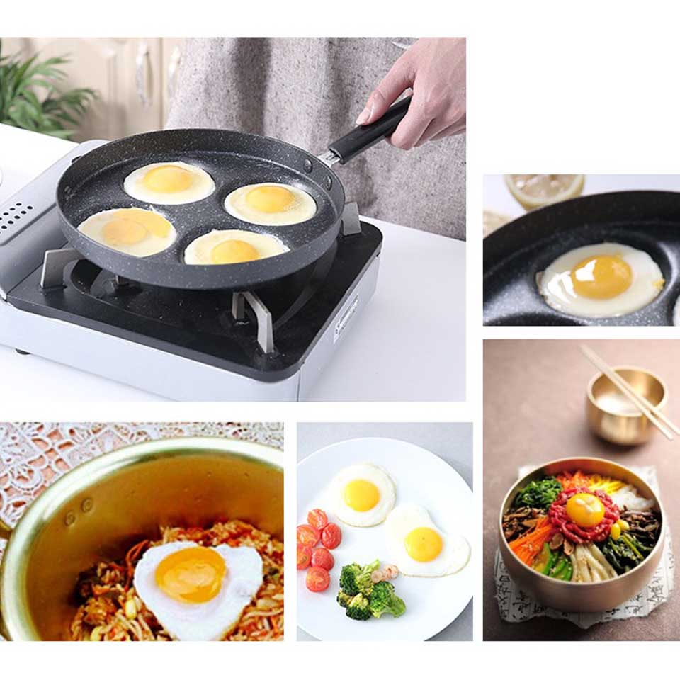 Aluminum 4-Cup Egg Frying Pan-50% OFF For TOP50 Customers