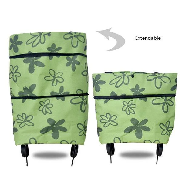 ✨BUY 2 FREE SHIPPING 🛒Foldable Shopping Trolley Tote Bag