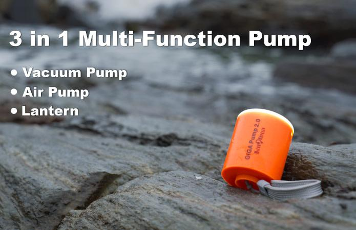GIGA Pump2: The Smallest Air Pump & Lantern 3 in 1