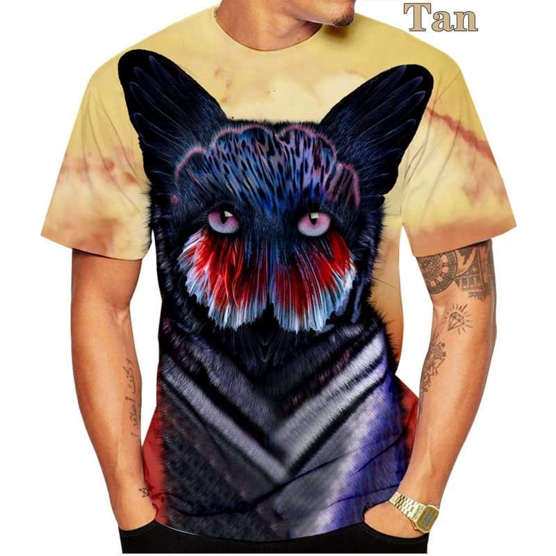 2020 new hot  No money men's and women's fashion Design cat  3D printing t shirt