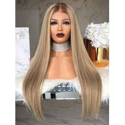 2020 Fashion Blonde Wigs For White Women Brown And Blond Ombre Light Ash Blonde Highlights Girls Blonde Wig Blond Pixie Cut Wella Honey Blonde Lace Frontal Wigs