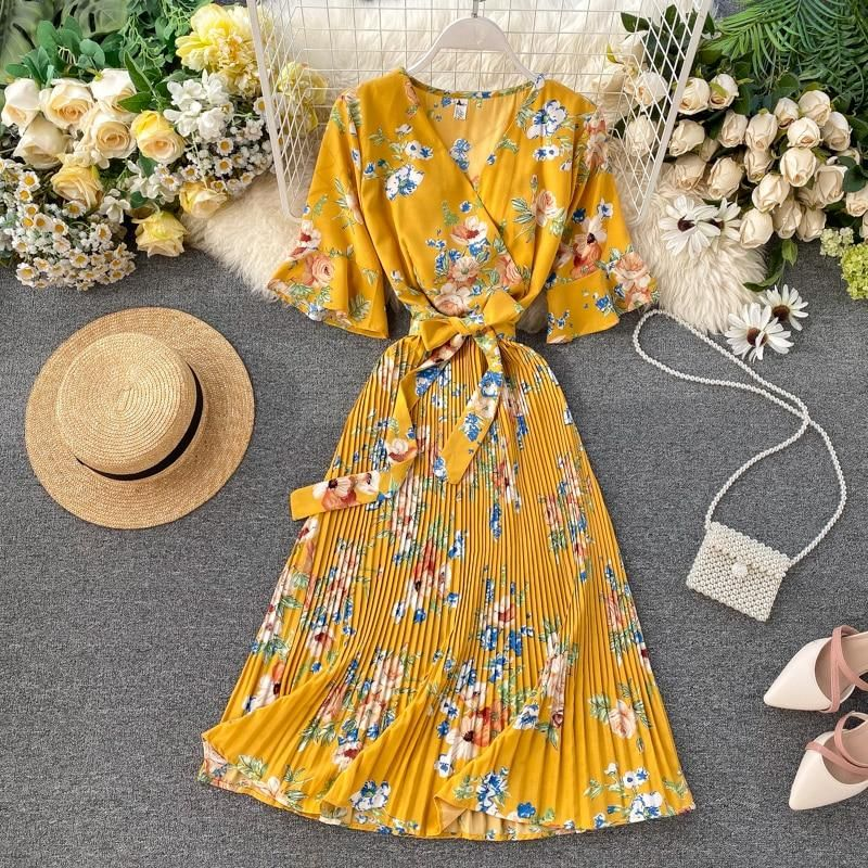 2020 Women Dress Casual Dress Print Cute Winter Outfits Ladies Cotton Gown