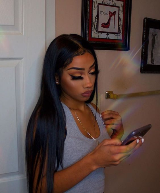 2020 New Straight Wigs Black Long Hair Short Cut Wigs For African American Peruvian Silky Straight Hair