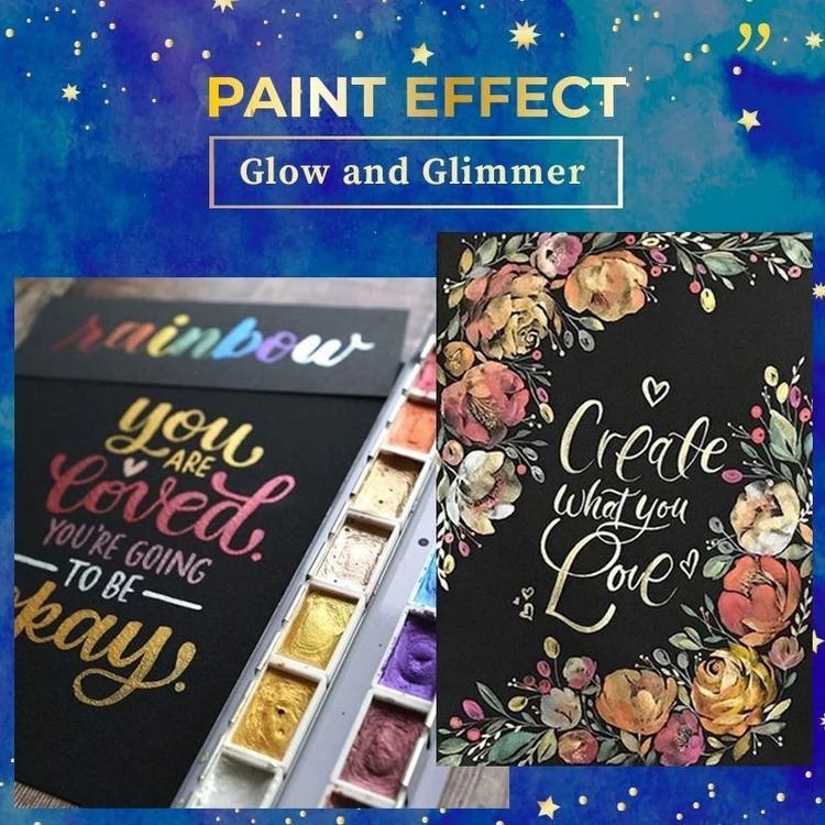 (50% Off Now) Metallic Watercolor Set