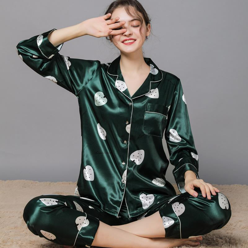 silky smooth lapel pajama set