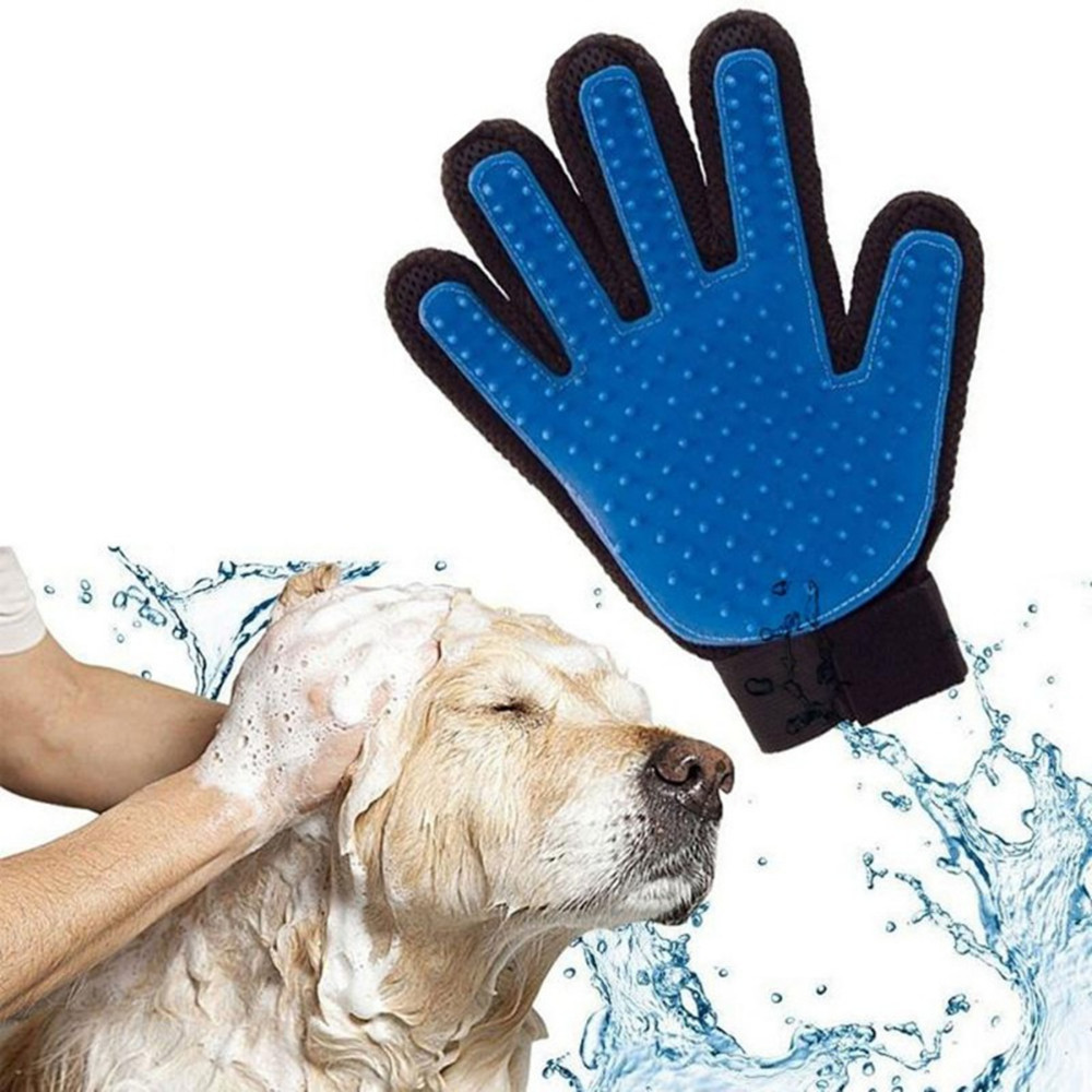 [2020 Hot Sale Product] Pet Grooming Glove Dog Cat Gentle Deshedding Brush