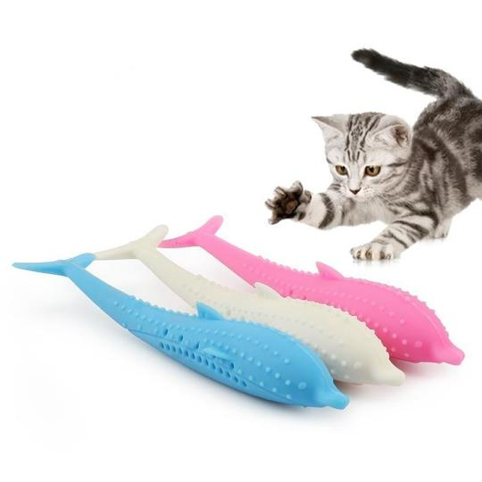 Soft Silicone Mint Cat Toothbrush