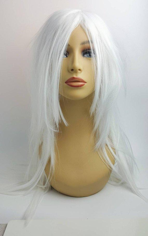 Gray Wigs Lace Frontal Wigs Eyebrow White Hair TreatmentCoarse Grey Hair