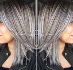 2020 New Gray Hair Wigs For African American Women Zlata Wigs Gray Eyebrow Hair Lace Wig Dark Grey Brown Hair Best Highlights For Gray Hair