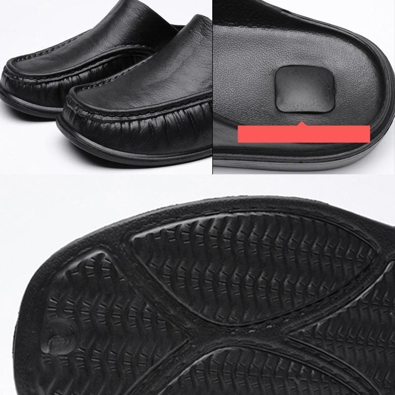 New Men's Fashion Casual Non-slip Hollow Outdoor Slippers