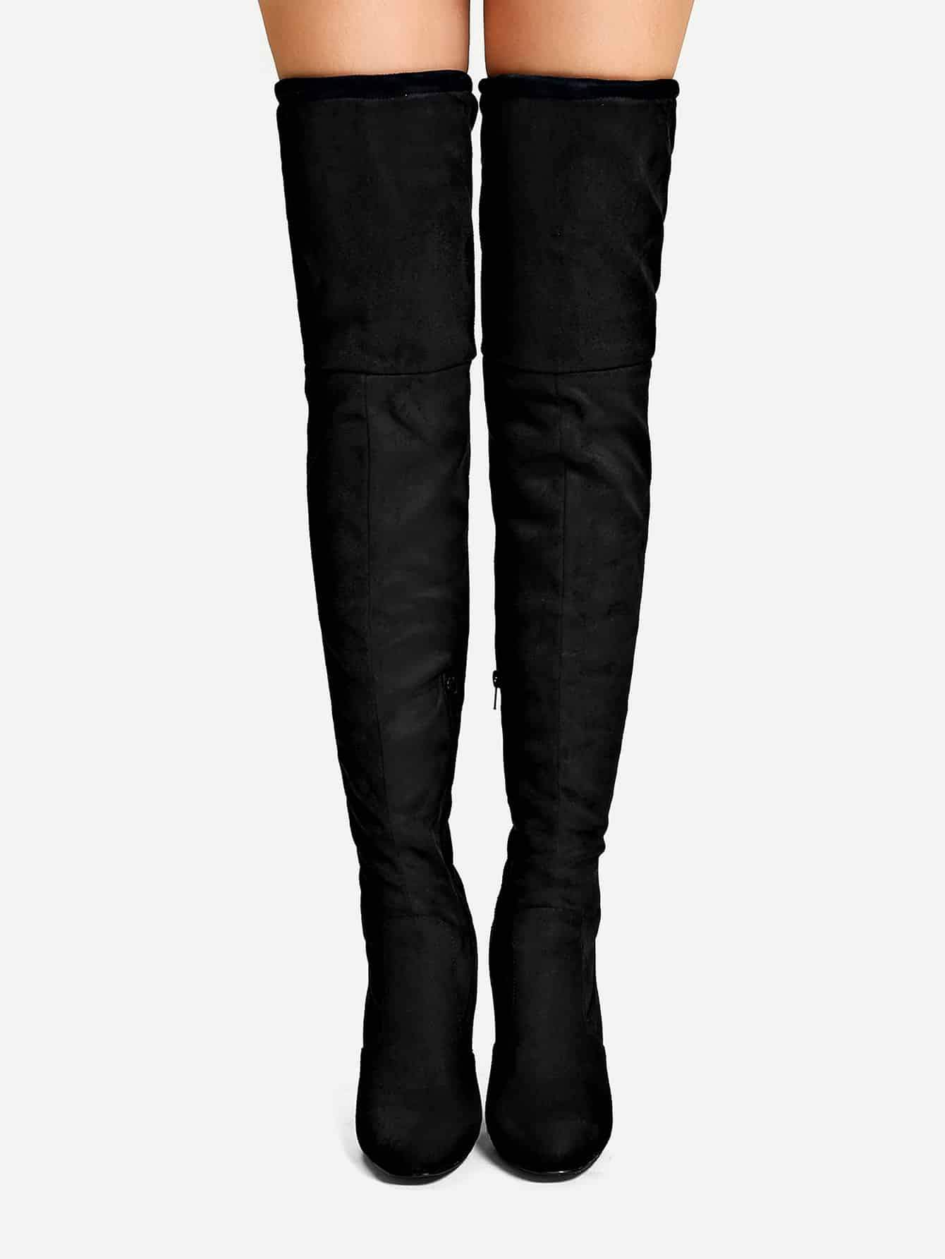 Over The Knee Plain Boots