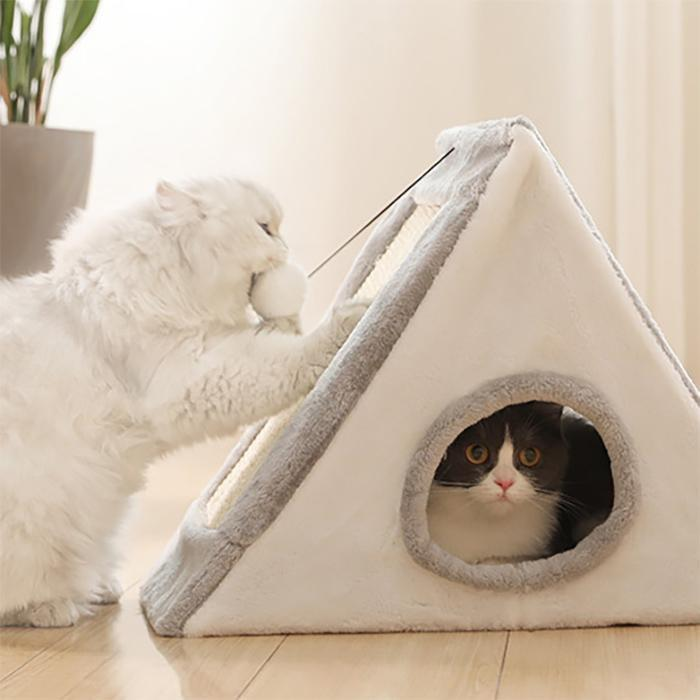 Amazing Cat Tent With Ball And Scratcher