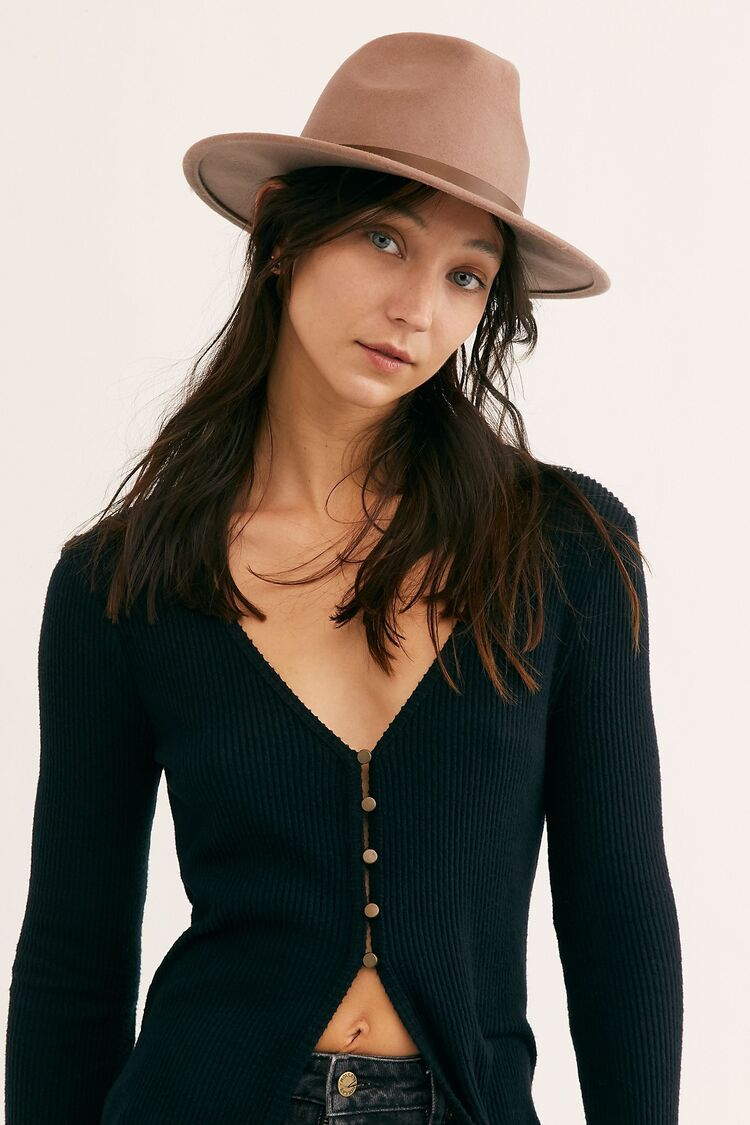 Monroe Hat For Women Fedora With A Feather Panama Hat Womens Gold Headwear