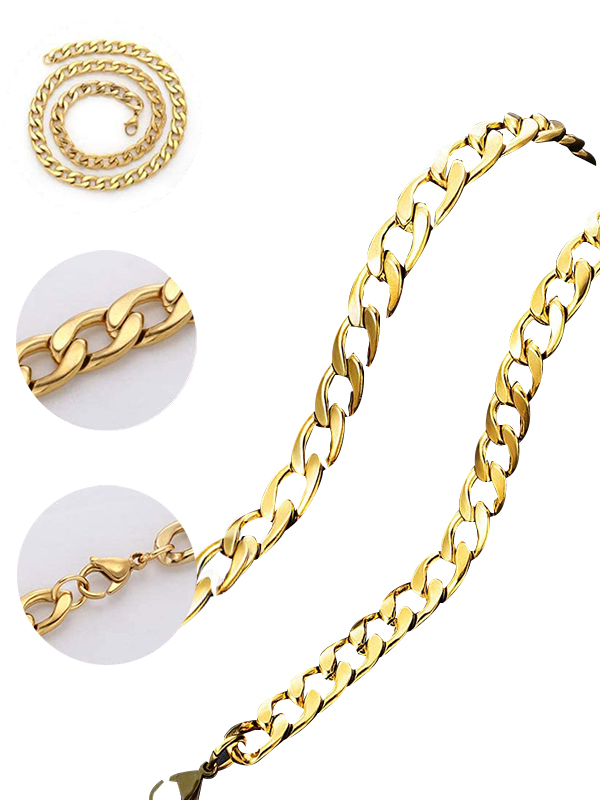 Cuban Chain Necklace Gold Rope Chain for Men