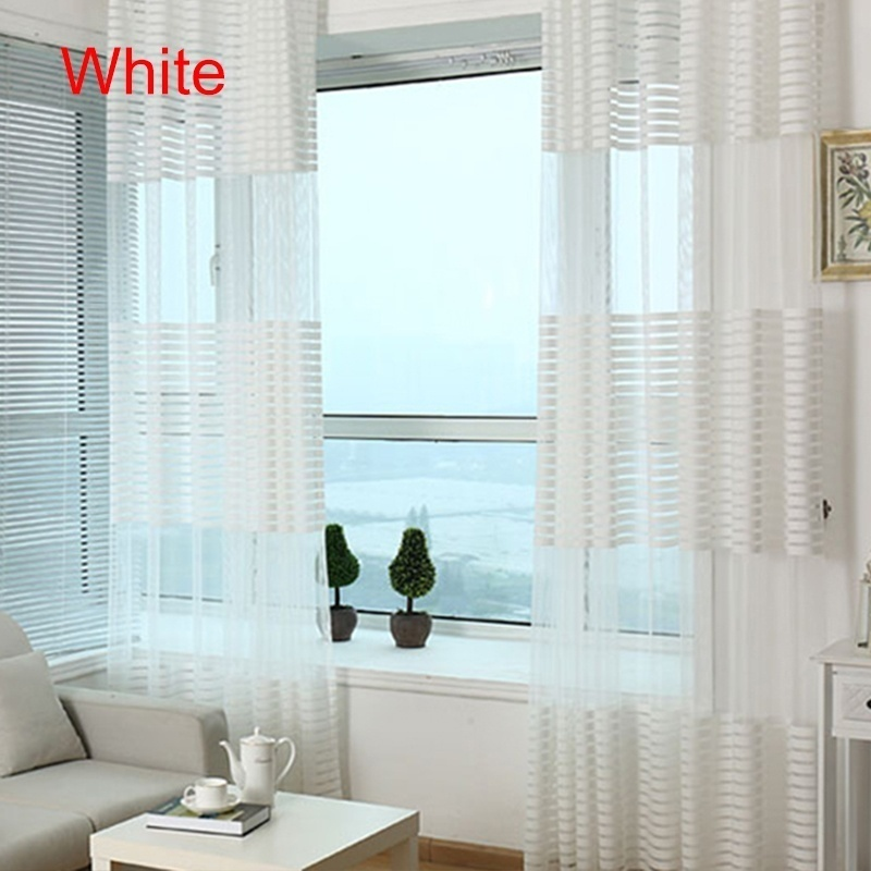 Rod pocket Sheer Voile Shade Curtain        Cortinas transparentes schierer Vorhang for Bedroom Living Room Balcony Coffee House
