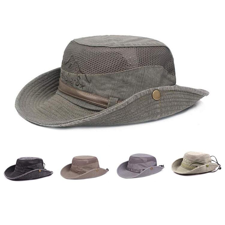 Unisex Cotton Sun Hat UV Protection Bucket Hat