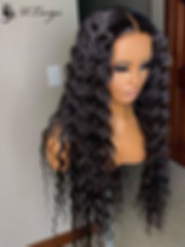 Curly Wigs Lace Front Curly Hair Black Hair Wigs For African American Women 20 Inch Loose Wave Affordable Lace Front Wigs 7A Grade Hair